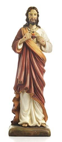 Artículos religiosos de Paben Estatua Sagrada Corazón de Jesús Cristo cm. 50 de Resina.