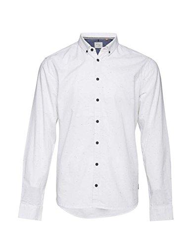 Blend Basic Contrast Hemd Weiß Weiß