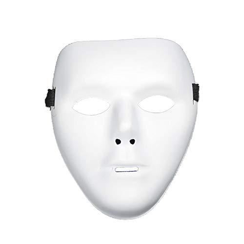 Einfache Maske von Halloween Feier Maske Requisiten Party Supplies für Mann Dekor (weiß) 1 Stück