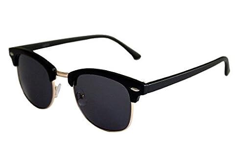 Nouvelles lunettes de soleil Wayfarer unisexe Style noir lentille avec