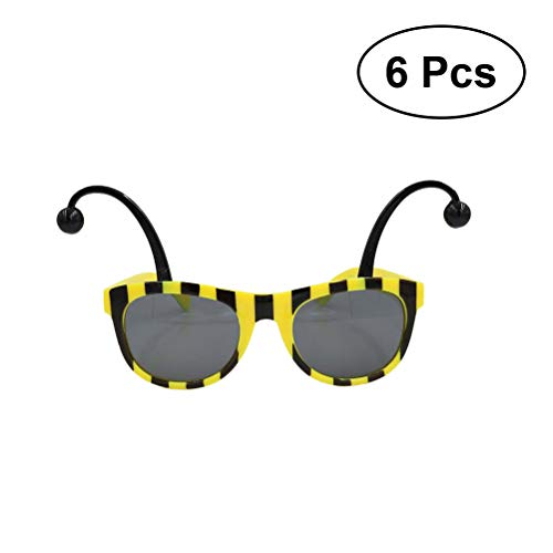 BESTOYARD 6 stücke Party Sonnenbrille Neuheit Biene Brillen Fancy Dress Sonnenbrille Party Favors Foto Prop