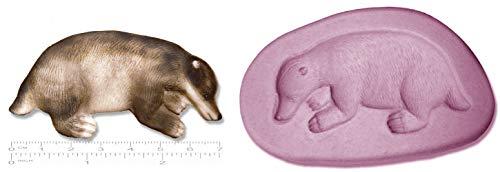 Molde de silicona para figuras de azúcar, diseño de tejón