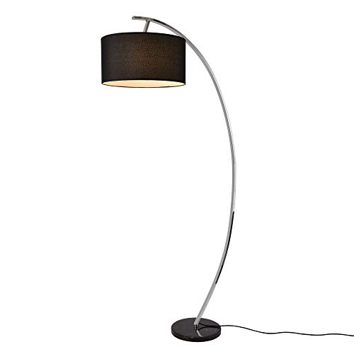 lux.pro] Stehleuchte 'Steiermark' auf Standfuß aus Marmor 1 x E27 max. 60W 153cm Bogenlampe Stehlampe Standleuchte Leselampe Bogen Lampe