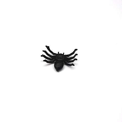EROSPA® 50 Stück Schwarze Spinnen für Party-Dekoration | Halloween - Grusel - Horror | 2,5 x 1,5 x 0,7 cm - 3