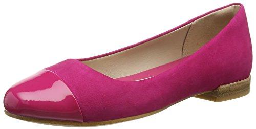 ClarksFestival Gold - Mocassini Donna , Rosa (Pink (Fuchsia Nubuck Combi)), 38