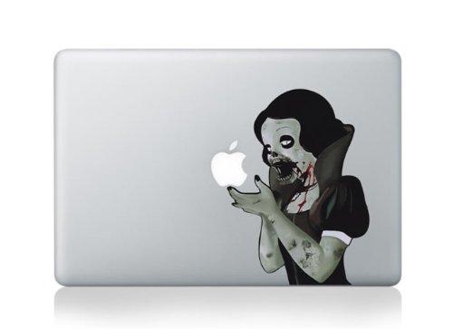 MacBook Decal Snow White Zombie passt 13inch (White Zombie Snow)