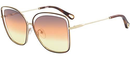 Chloé Sonnenbrillen Poppy CE133S Havana Gold/Grey ORANGE Yellow Damenbrillen