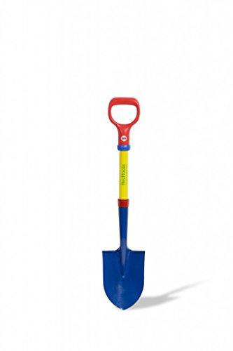 TOLO Spielwaren First Tools (Tolo) Kinder-Schaufel / Farbe: blau/gelb/rot/grün / Stahlrohrrahmen + Metallkopf in spitzer Form / Höhe: 73 cm / Alter: ab 3 Ja