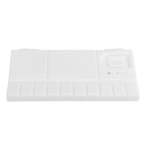 Faltbar 24-teilig quadratisch Kunststoff Farbpalette DIY Crafts Tablett Watercolor Aufbewahrungsbox Acryl Ölgemälde Werkzeug