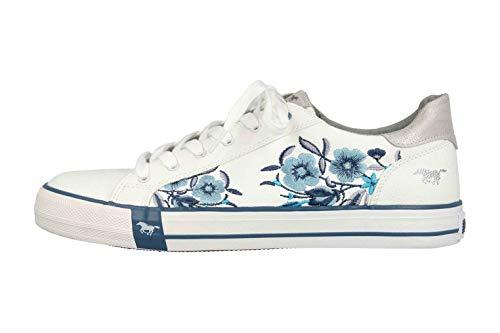 MUSTANG Shoes Sneaker in Übergrößen Weiß 1313-303-18 große Damenschuhe, Größe:45