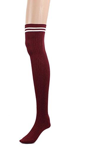 Calze Familizo Collegio Vento coscia alta calze calzini sopra il