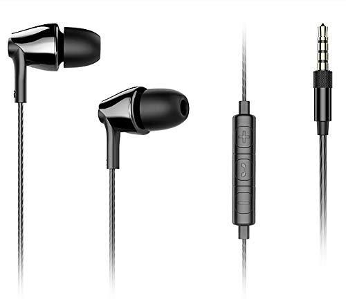 d596fd880deb78 Fusiontech Cuffie In-Ear Auricolari Earphones Universale, Cuffie con  Vivavoce Headset Earphones con Microfono