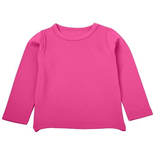 MRULIC Baby Langarmshirt Mädchen Jungen Langarm Crops Tops Viola Slim Basic Top Noos(Pink,Höhe:80-90CM) (Eine Starbucks Kostüm)