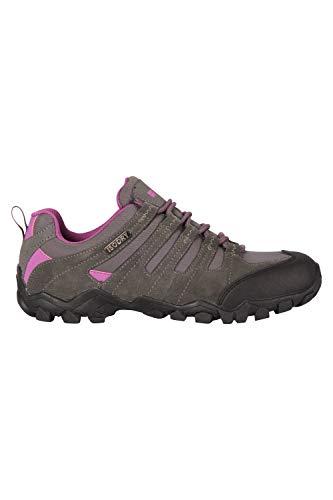 Mountain Warehouse Belfour Zapatillas para Mujer - Transpirables, Zapatillas con Cordones para Cualquier época del año- para excursión, Gimnasio y Correr Gris Talla Zapatos Mujer 37 EU