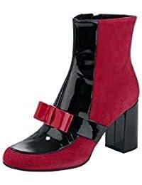 cf5d913ca1c246 Heine Ankle Boot Stiefelette Tolle Optik Dekorative Schleife Materialmix