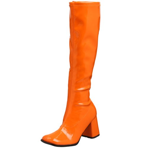 men Retro Stiefel, Orange, 44 EU (Disco Stiefel)
