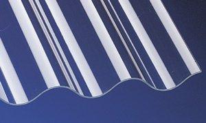 Acryl Wellplatten Profilplatten P5 Sinus 177/51 klar ohne Struktur 2500 x 920 x 3,0 mm
