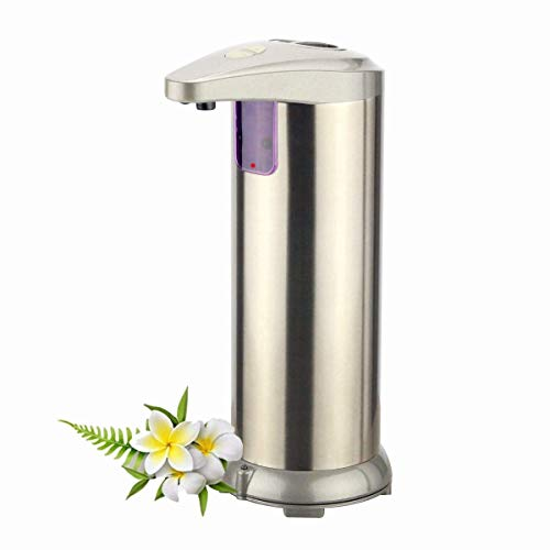 Automatic Soap Dispenser Hand Free Stainless Steel Waterproof Infrared Motion Sensor Touchless Auto Dish Liquid Soap Dispenser for Kitchen Bathroom Sink Soap Lotion Home Shower 280ML