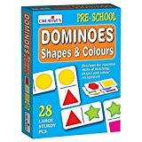 StonKraft Preschool Learning Toys - Dominoes - Shapes and Colours | Educational Toys | Learning Games | Matching Games for Kids & Toddlers