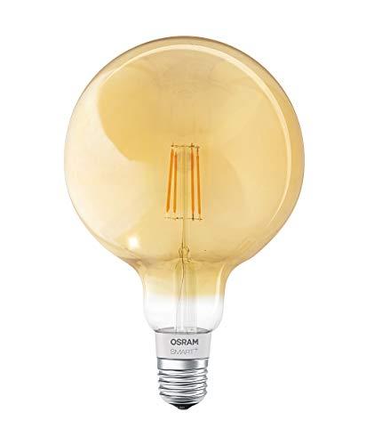Osram Smart + LED filamento Globe Oro | Apple HomeKit lampada con | dimmerabile | Sostituisce 60W, attacco E27Lampadina Luce Bianca Calda