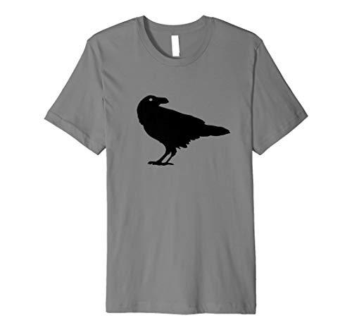 (SPOOKY Crow schwarz Bird Raven T-Shirt für Damen und Herren)