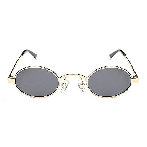XHCP Frauen polarisierte Klassische Flieger-Sonnenbrille, Retro kleine ovale Linsen-Sonnenbrille für Frauen-Männer Unisexmetall gestaltete Sonnenbrille-Pers5onlichkeit fasste stilvolle Sonnenbril