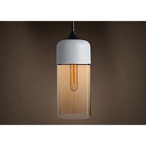 GS~LY retrò vetro creativo di ferro in stile americano13*31cm lampadario
