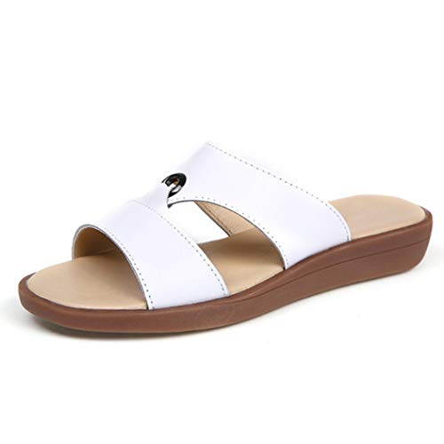 Frauen Open Toe Rutschen Sandalen Kunstleder Komfort Slip-on Fashion Wedge Platform Sandalen