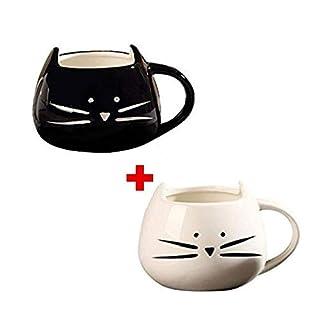 Ailiebhaus Kaffeebecher 2 Stücke Katze Tassen Keramik Nette Porzellanbecher Tee Tasse Kaffeetasse Teebecher