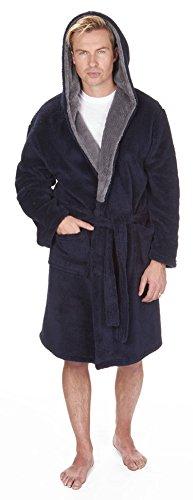 Hommes À Capuche Blottir Peignoir Robe De Chambre Polaire - Blottir Marine, XX-Large