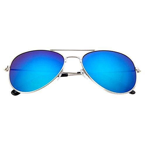 Ansenesna Sonnenbrille Kinder Verspiegelte Pilotenbrille UV400 Brille CE Zertifiziert für Jungen Mädchen (Blau)
