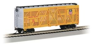 bachmann-18501-h0-silver-seriesr-40-stock-car-union-pacific-yellow-silver