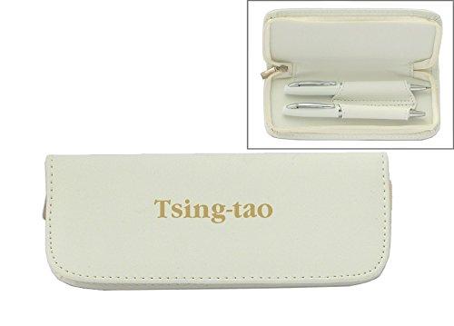 set-de-pluma-en-estuche-de-cuero-artificial-de-color-blanco-con-nombre-grabado-tsing-tao-nombre-de-p