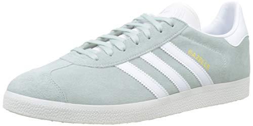 adidas Gazelle, Zapatillas de Gimnasia para Hombre, 45 1/3 EU, Verde (Vapour Green/Ftwr White/Crystal White)