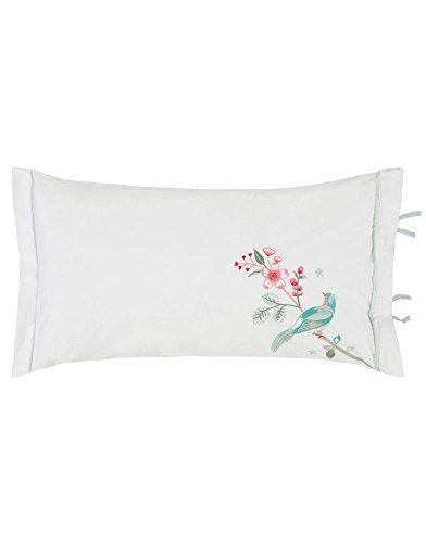 Pip cuscino decorativo, imbottito in cotone percalle, bianco, 35x60 cm