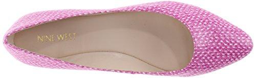 Nine West Speakup Ballet Synthetic Flat Off White/Medium Pink