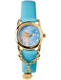Barbie B392 - Reloj analógico para niña con correa violeta/gris