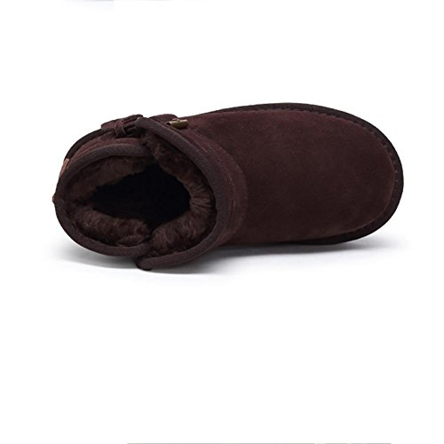 Stivali da neve a tubo corto da donna Antiscivolo caldo e traspirante Scarpe piatte all'aperto , 40 , blue WINERED-40