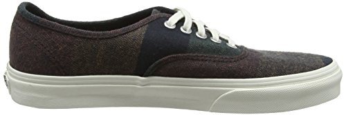Vans Authentic, Sneaker Unisex – Adulto Marrone (Wool Stripes/Blanc De Blanc)