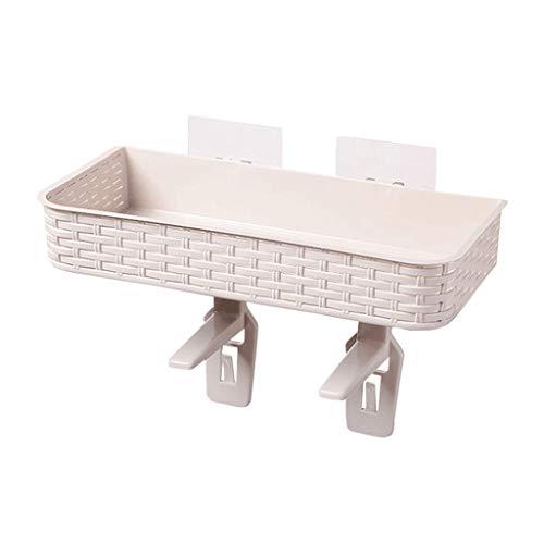 LPZ Punsch Free Badezimmer Regal Saugnapf Wandhalterung Bad Rack Keine Spur WC WC WC Lagerregal LPZV (Farbe : Khaki) -