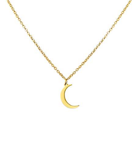 Luamaya Soona Damen Ketten - Edelstahl Halskette in Gold, Silber und Roségold (gold)