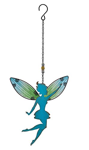 Cartella del vento gioco-Fairy hangig Décor Blue-Resistente agli agenti atmosferici-dimensioni: 24x 46cm-con gancio