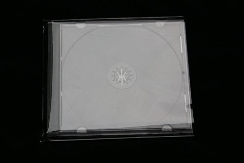 100 Stück Schutzhüllen für Jewel Case Box aus hoch transparenten Folie Glasklar 140x150 mm Sleeves auch für Slim Case Papier CD Hüllen