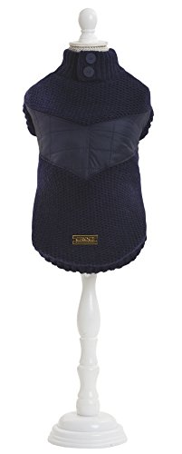 CROCI Padded Lining Sweater for Dogs, Blue, 40 cm
