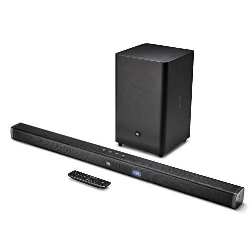 JBL Bar 2.1 Soundbar with Wireless Subwoofer (300 Watts, 4...