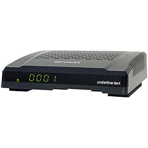 Edision Optimuss Underline - Receptor de TV por satélite (conexión HDMI, DVB-S2;DVB-C;DVB-T2), negro (importado)