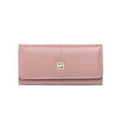 WU Zhi Lady In Pelle Pochette Fermasoldi Pink
