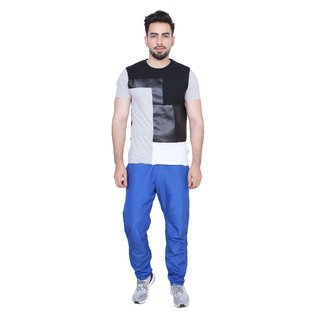 SOC 710 Sporty , Casual and comfortable, Jogging blue trackpants with mesh lining inside
