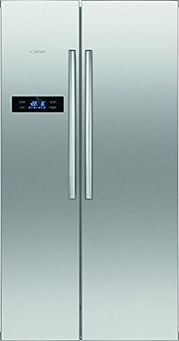 Bomann SBS 2192 IX Kühl-Gefrierkombination Side-by-Side, A+, Total No Frost, LED-Display, Kühlen: 344 L, Gefrieren 183 L