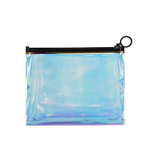 1PC Holographic Make-up-Beutel-bewegliches Transparent kosmetische Beutel TPU Pflege Organizer Handy-Make-up-Beutel mit Reißverschluss-Bleistift-Beutel -